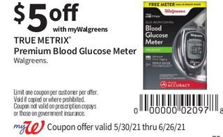 True Matrix Premium Blood Glucose Meter Walgreens