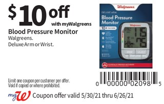 Blood Pressure Monitor Walgreens Deluxe Arm or Wrist