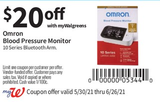 Omron Blood Pressure Monitor 10 Series Blutooth Arm