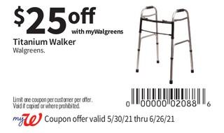 Titanium Walker Walgreens