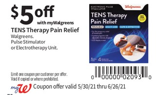 TENS Therapy Pain Relief Walgreens Pulse Stimulator or Electrotherapy Unit