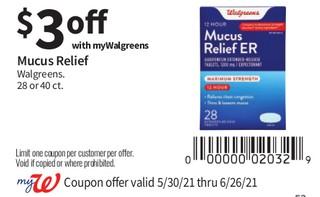 Mucus Relief Walgreens