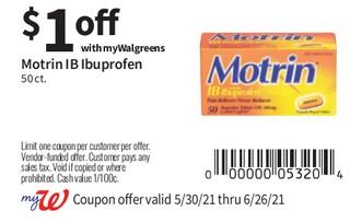 Motrin IB Ubuprofen 50 ct