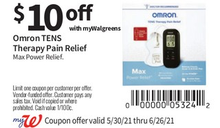 Omron Tens Therepy Pain Relief Max Power Relief