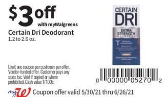 Certain Dri Desodorant