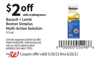 Bausch + Lomb Boston Simplus Multi Action Solution 3.5 oz