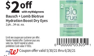 Bausch + Lomb Biotrue Hydration Boost Dry Eyes