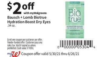 Bausch + lomb m Biotrue Hydration Boost Dry Eyes .34 oz
