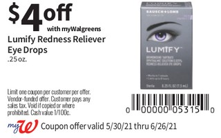Lumify Redness Reliever Eye Drops .25 oz