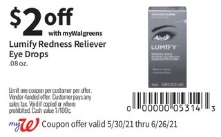 Lumify Redness Reliever Eye Drops .08 oz