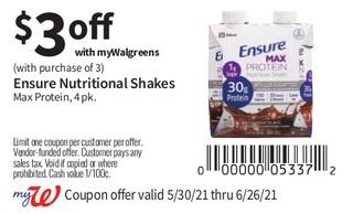 Ensure Nutricional Shakes Max Protein, 4 pk
