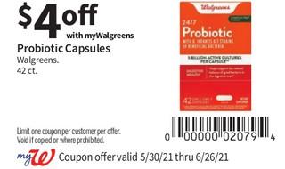 Probiotic Capsules Walgreens 42 ct
