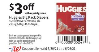 Huggies Big pack diapers