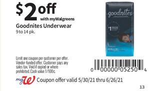 Goodnites Underwear
