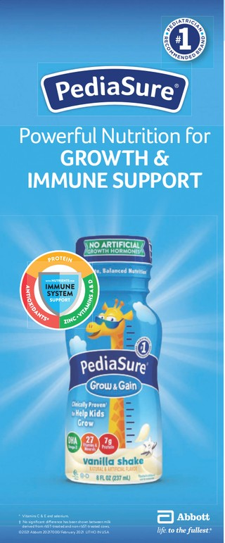 PediaSure Powerful Nutrition for Growth & Immune Suport