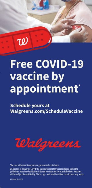 Free COVID-19 Vaccine by appointment