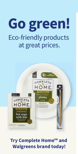 Go green! Eco-friendly products at great prices