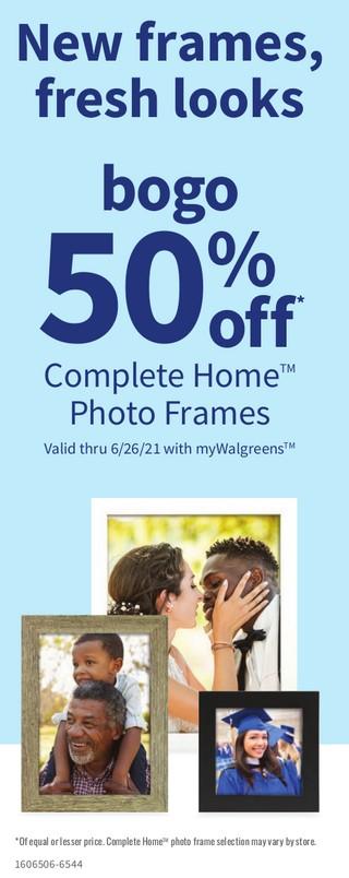 New Frame Fresh Looks bogo 50%off Complete Home Photo Frames