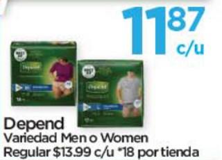 Depend Variedad Men o Women