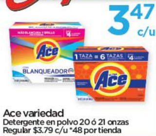 Ace Variedad Detergente en Polvo