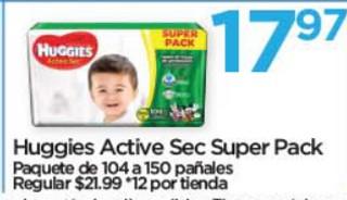 Huggies Active Sec Super Pack