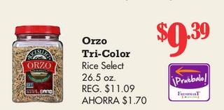 Orzo Tri-Color Rice Select 26.5 oz