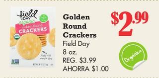 Goldon Round Crackers Field Day 8 oz