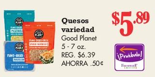 Quesos Variedad Good Planet 5 - 7 oz