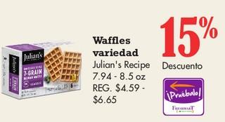 Waffles Variedad Julian's Recipe 7.94 - 8.5 oz
