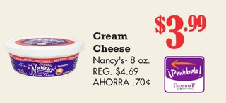 Cream Cheese Nancy's 8 oz