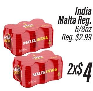 India Malta Reg. 6/8 oz