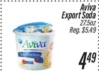Aviva Export Soda 27.5 oz