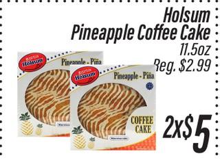 Holsum Pineapple Coffe Cake De 11.5 oz