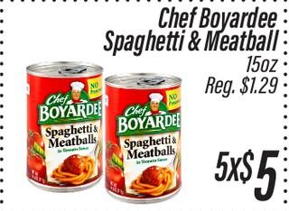 Chef Boyardee Spaghetti & Meatball 15 oz