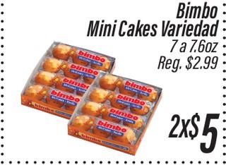 Bimbo MIni Cakes Variedad