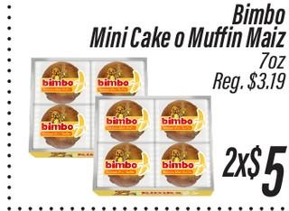 Bimbo Mini Cake o Muffin Maiz 7 oz