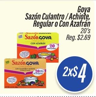 Goya Sazon Culantro /Achiote, Regular o Con Azafran 20's