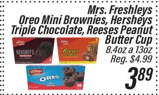 Variedad de dulces Mrs. Freshley's