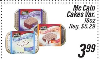 McCain Cakes Var.