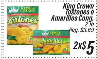 King Crown tostones o amarillos Congelado