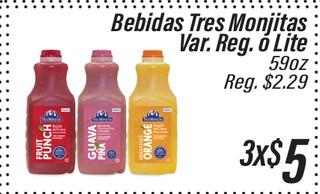 Bebidas Tres Monjitas