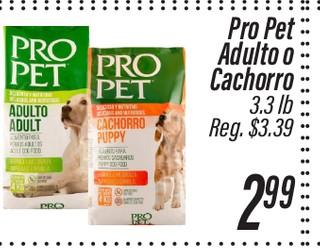 Comida para perros Pro Pet