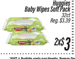 Huggies Baby Wipes Soft Pack