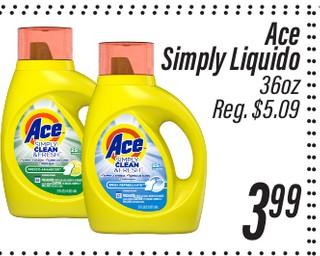 Detergente líquido Ace Simply