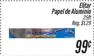 Elitar papel aluminio