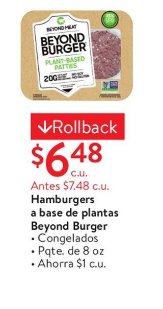 Hamburgers a base de plantas Beyond Burger