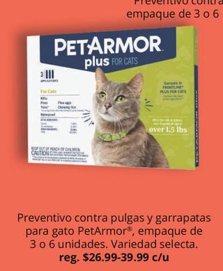 Preventivo contra Pulgas y Garrapatas Para Gato