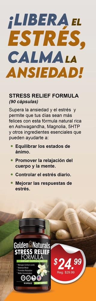 STRESS RELIEF FORMULA GOLDEN NATURALS