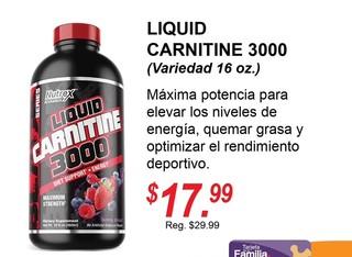LIQUID CARNITINE 3000 NUTREX