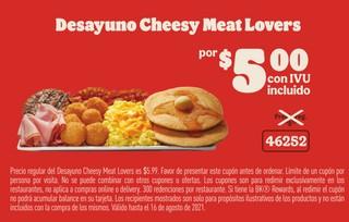 Desayuno Cheesy Meat Lovers